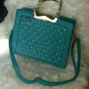 Handbags - Gorgeous teal aqua blue purse